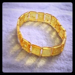 "Jewelry - Natural lemon baltic amber bracelet 7"""